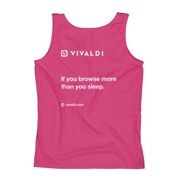 Ladies' Tank (print on back)
